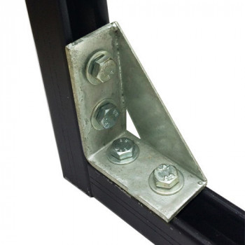Right Angle Gusset 2x2 Hole - A4 Stainless