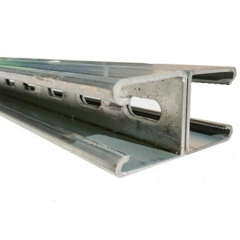 41mm Slotted Channel Back to Back - Hot Dipped Galvanised - 6 Meter