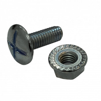 M6x16mm Roofing Bolt & Nut x 100 (HDG)