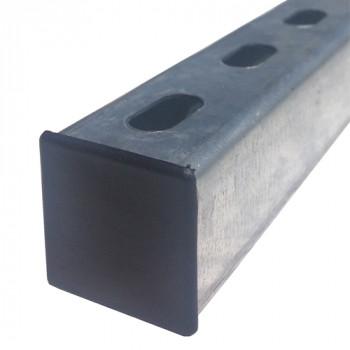 41mm Black Plastic End Caps - (Pack of 100)