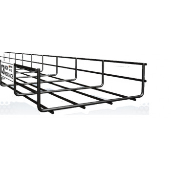 Pemsa - 200mm Cable Basket Tray C8 Black x 3 Meter