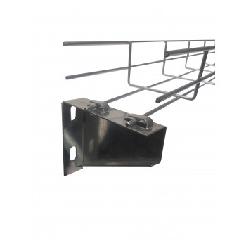 Hooked Wall Bracket for 100mm Width Wire Cable Basket