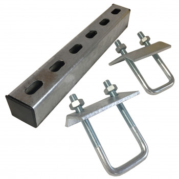 300mm U-Bolt Channel Beam Clamp Set