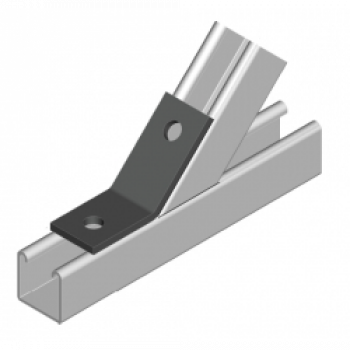 Obtuse Angle 45 Degree 1x1 Hole Stainless Steel