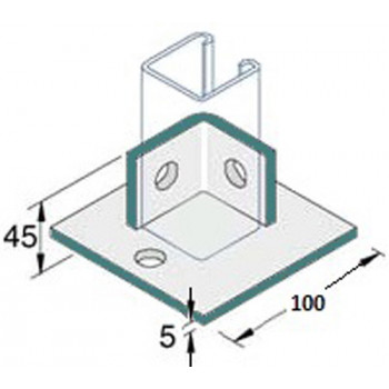 Double Fix Base Plate - A4 Stainless