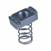 M12 Long Spring Channel Nuts - A4 Stainless