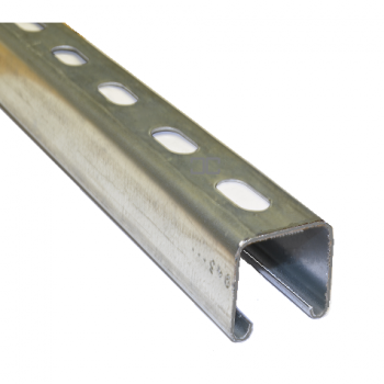 41mm Slotted Channel Hot Dipped Galvanised - 3 Metre