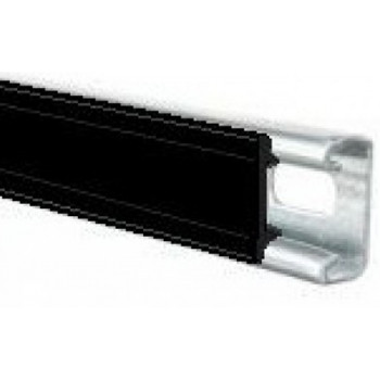 Black Plastic Channel Closure Strip - (1 Meter)