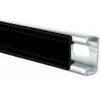 Black Plastic Channel Closure Strip - (3 Meter)