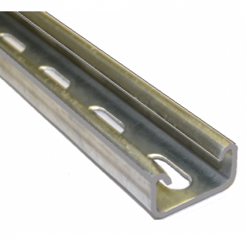 21mm Slotted Channel Hot Dip Galvanised - 2 Metre