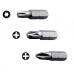 Rawl Pozi No.1 Screwdriver Bits (Pack of 3)