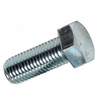 M12x40mm Hex Head Set Screw - (Box of 100) - (BZP)