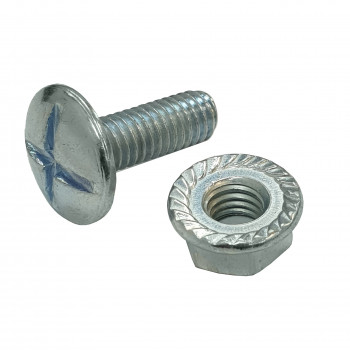 M6 x 20mm Cable Tray Bolt & Flange Nut x 100