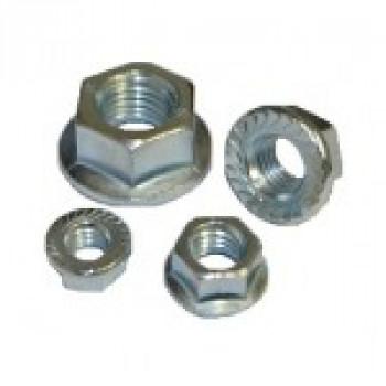 M10 Flange Nuts (BZP) x 100