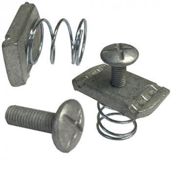 M6 Channel Nut & Roofing Bolt Set - HDG