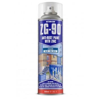 Action Can Zinc Galvanising Spray Paint 500ml (Blue)