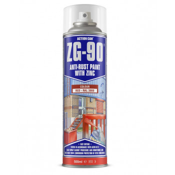 Action Can Zinc Galvanising Spray Paint 500ml (Red)