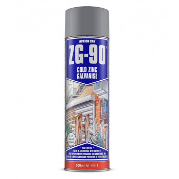 Action Can Zinc Galvanising Spray Paint 500ml (Silver)