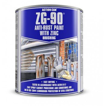 Action Can Zinc Galvanising Brushing Paint 900ml (Silver)