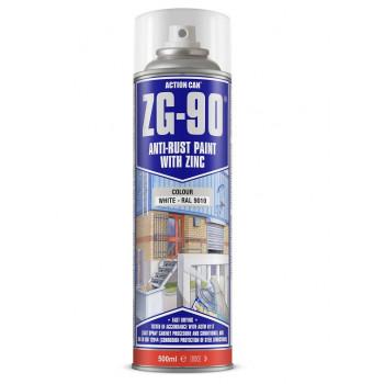 Action Can Zinc Galvanising Spray Paint 500ml (White)