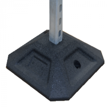 350mm H-Frame Rubber Foot Strut - (Individual)