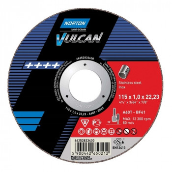 115mm Stainless Cutting Blades (Norton) Box of 25