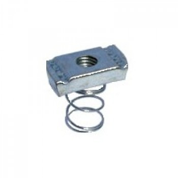 M6 Short Spring Channel Nuts Hot Dipped Galvanised - Box of 100