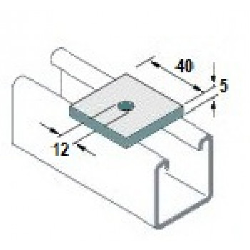 M10 Square Plate Washers Hot Dip Galv. - (Box of 100)
