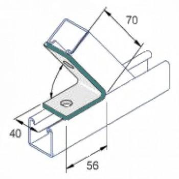 45 Degree Acute Angle 1x1 Hole - A4 Stainless