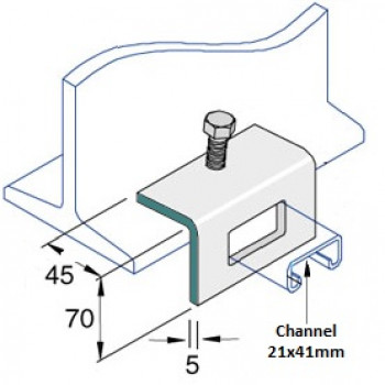 21mm Window Bracket - A4 Stainless